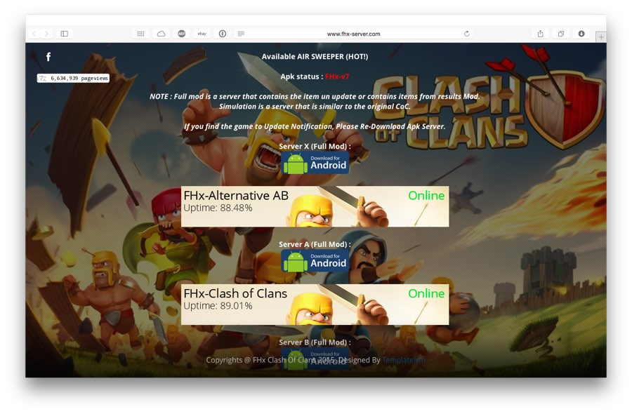 FHX сервер Clash of Clans