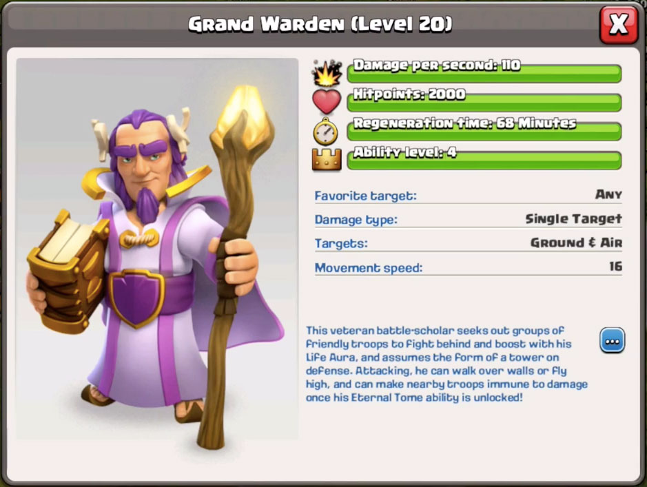 Grand Warden - Хранитель Clash of Clans