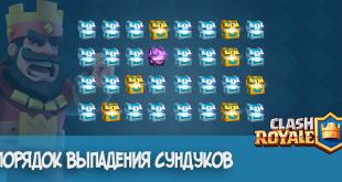 Clash Royale порядок выпадения сундуков