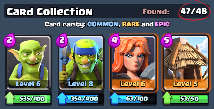 48 карт Clash Royale