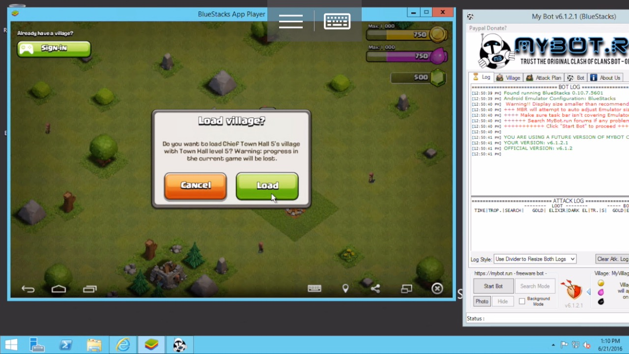 coc acc bluestacks