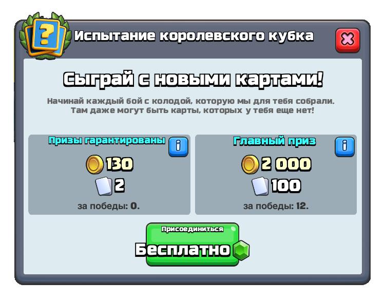 Испытание королевского кубка.