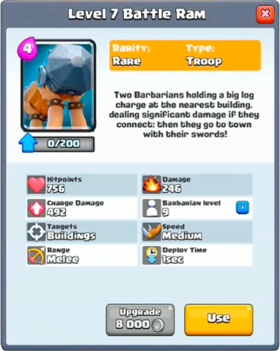 battle ram - clash royale