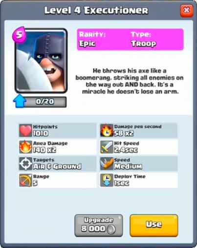 execution/ палач info - Clash Royale
