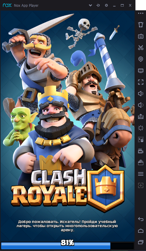 Clash Royale в NOX
