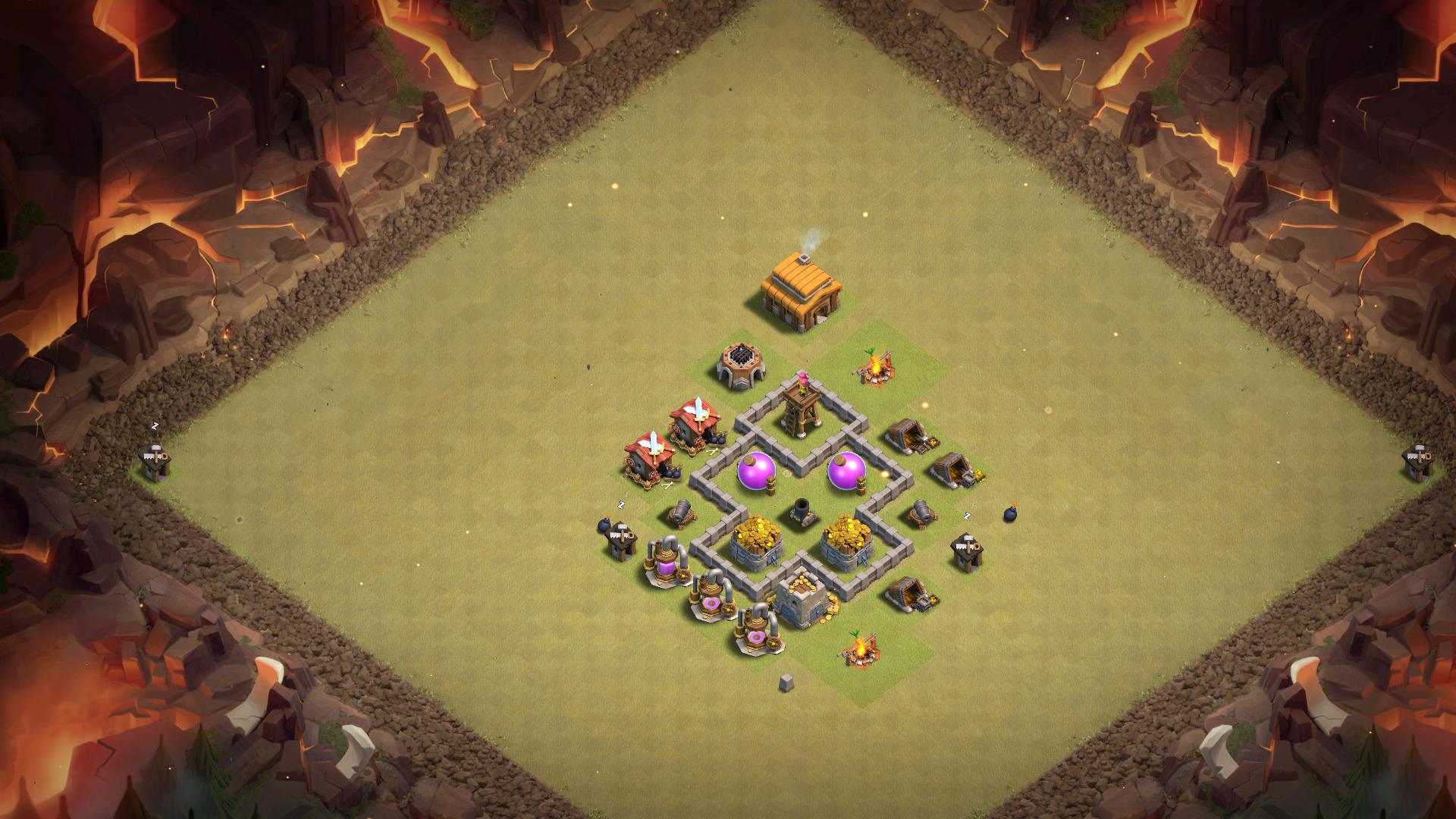 Расстановка базы для 3 ратуши - Clash of Clans