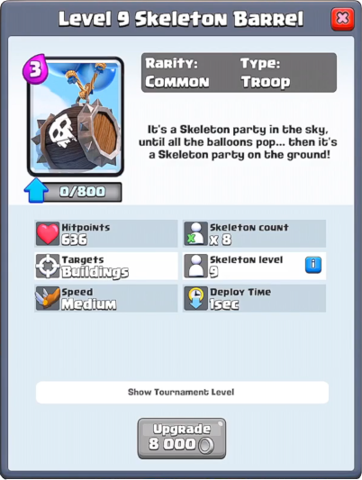 Image result for Skeleton Barrel clash royale