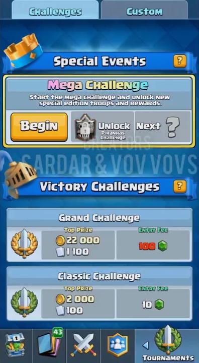Мега-испытание в Clash Roayale