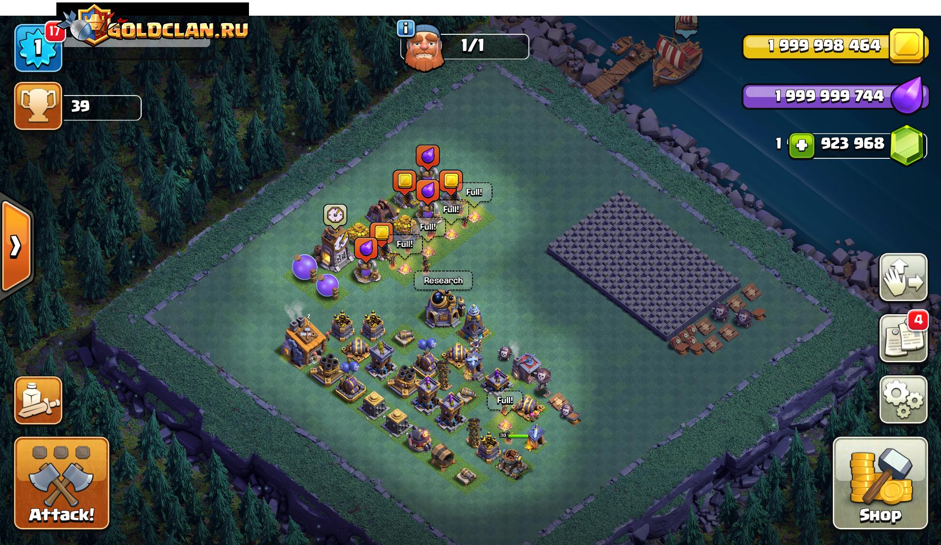 Ночная деревня сервер Clash of Clans