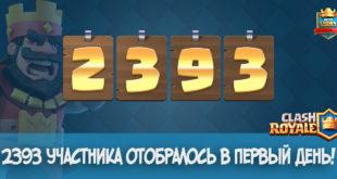 2393 участника в исппытании Clash Royale