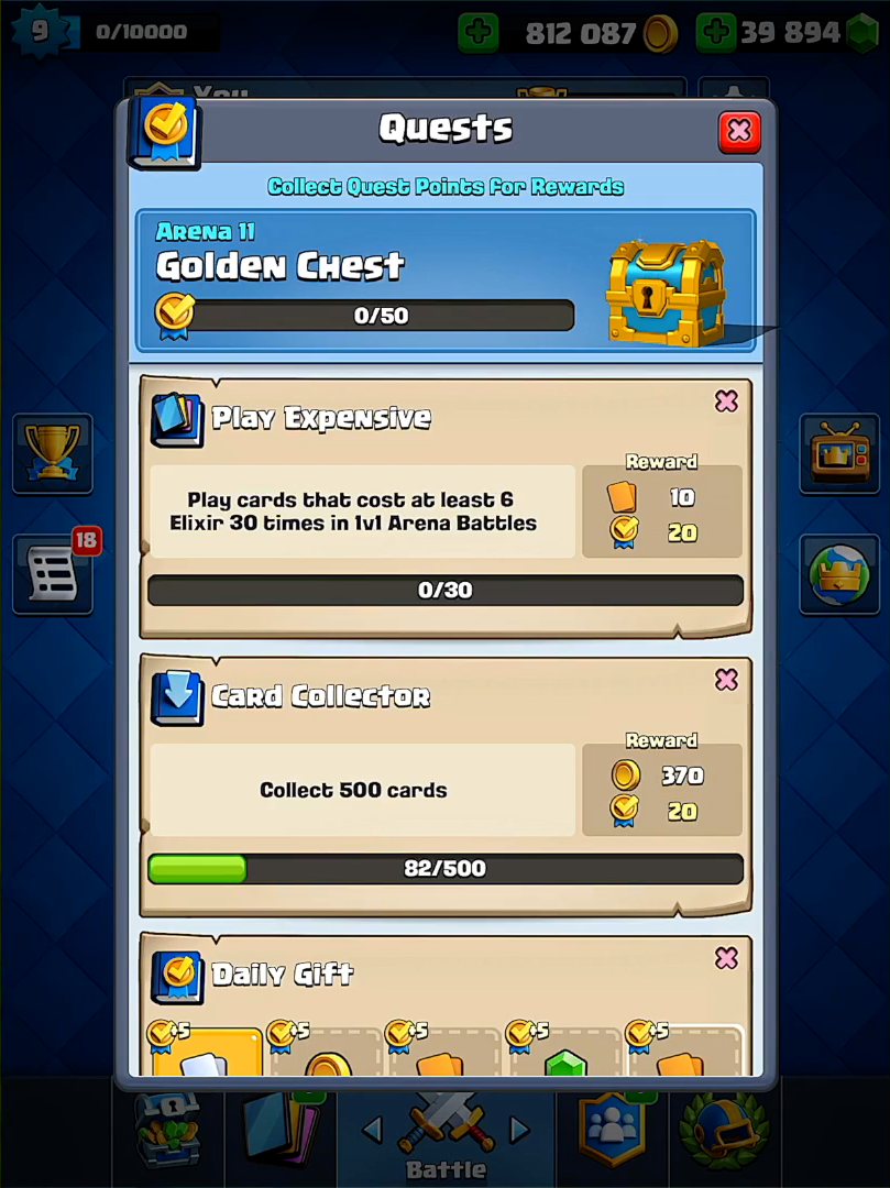 Quests Clash Royale