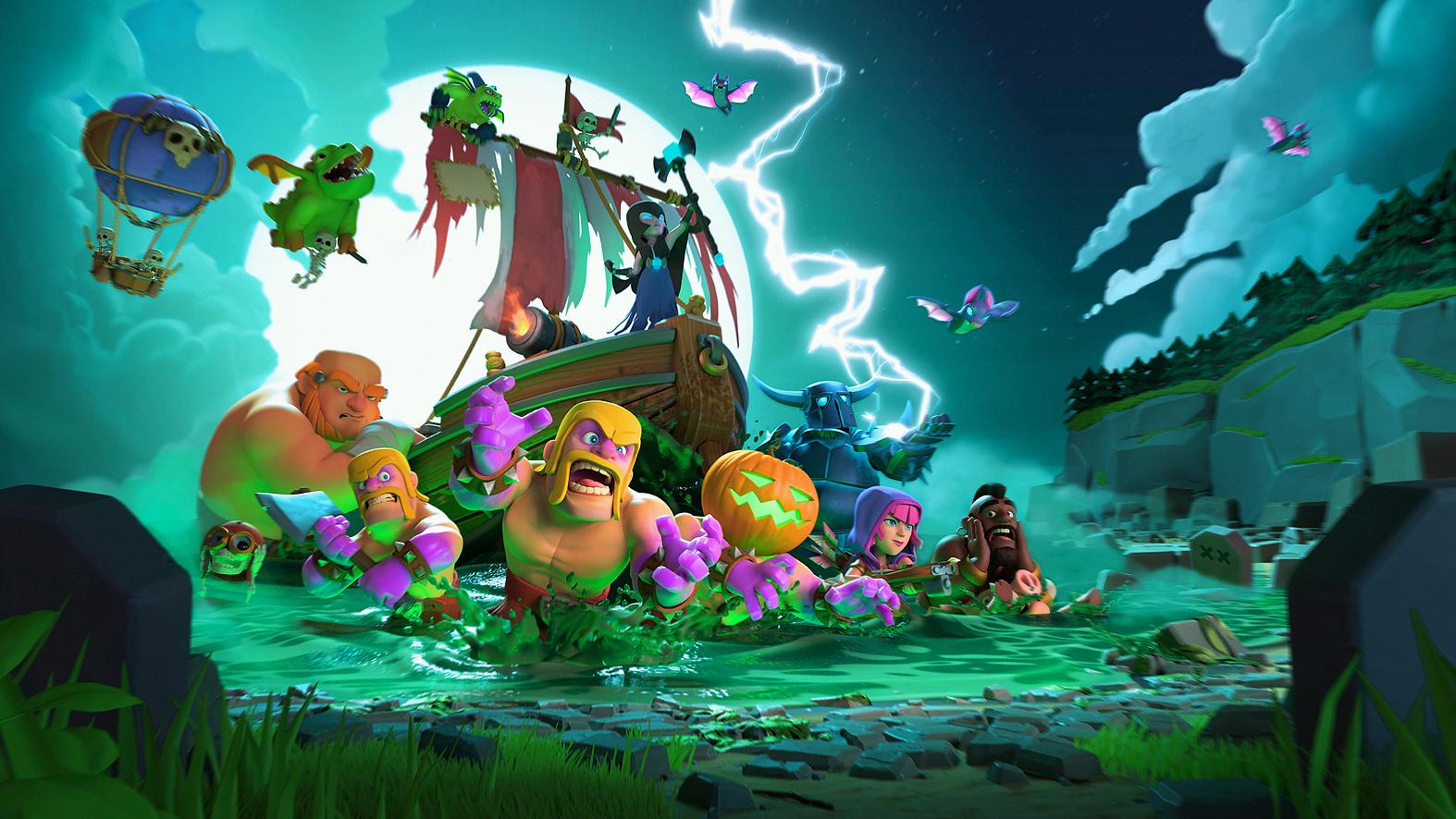 Загрузочный экран Clash of Clans на Хеллоуин