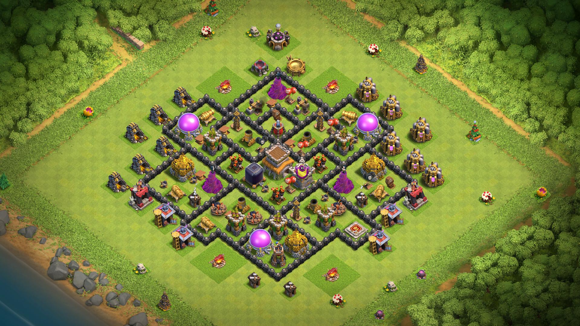 База ратуша 8 Clash of Clans