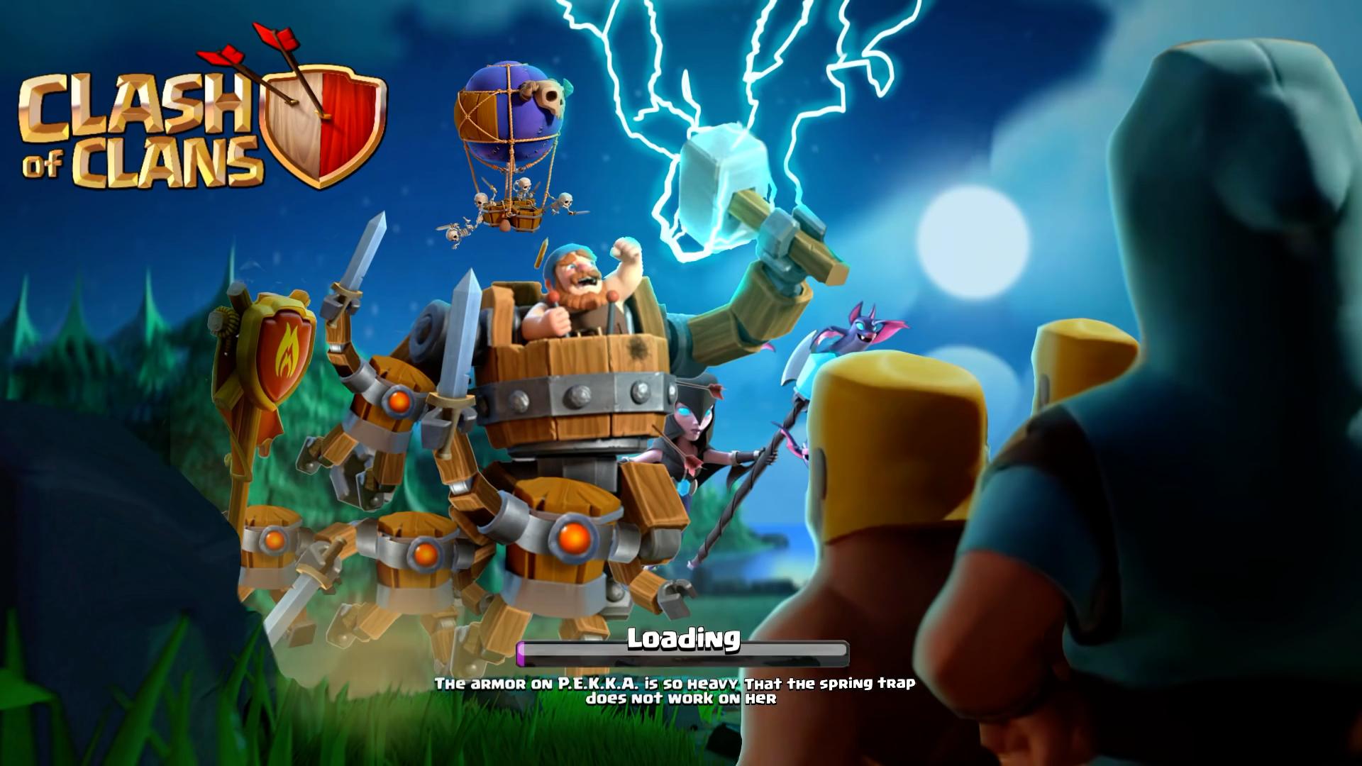 Боевой Бот на загрузочном экране Clash of Clans
