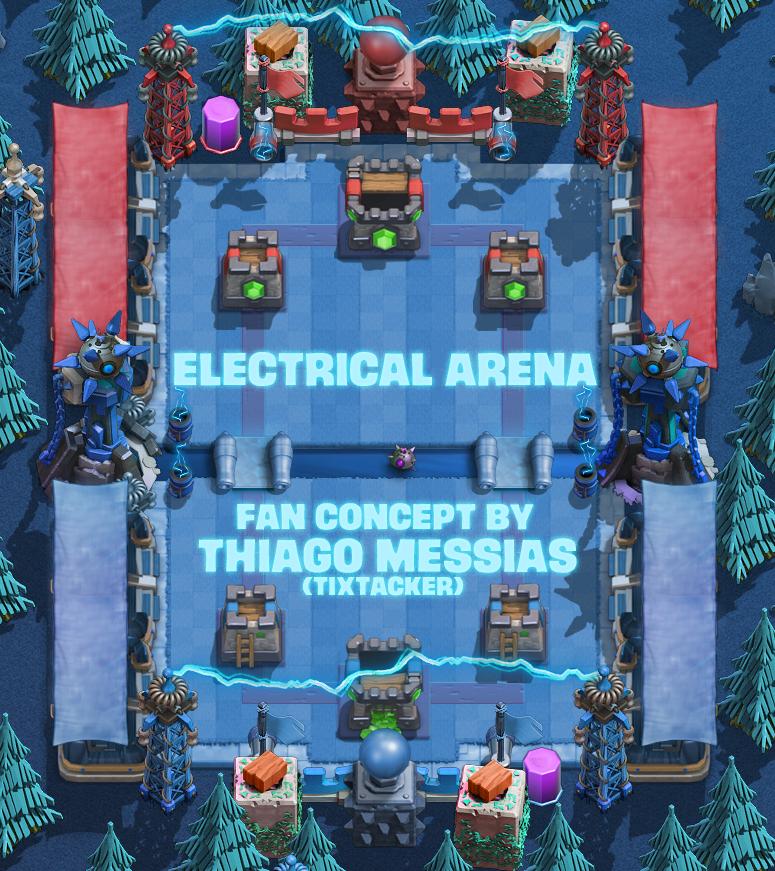 Электрическая арена в Clash Royale