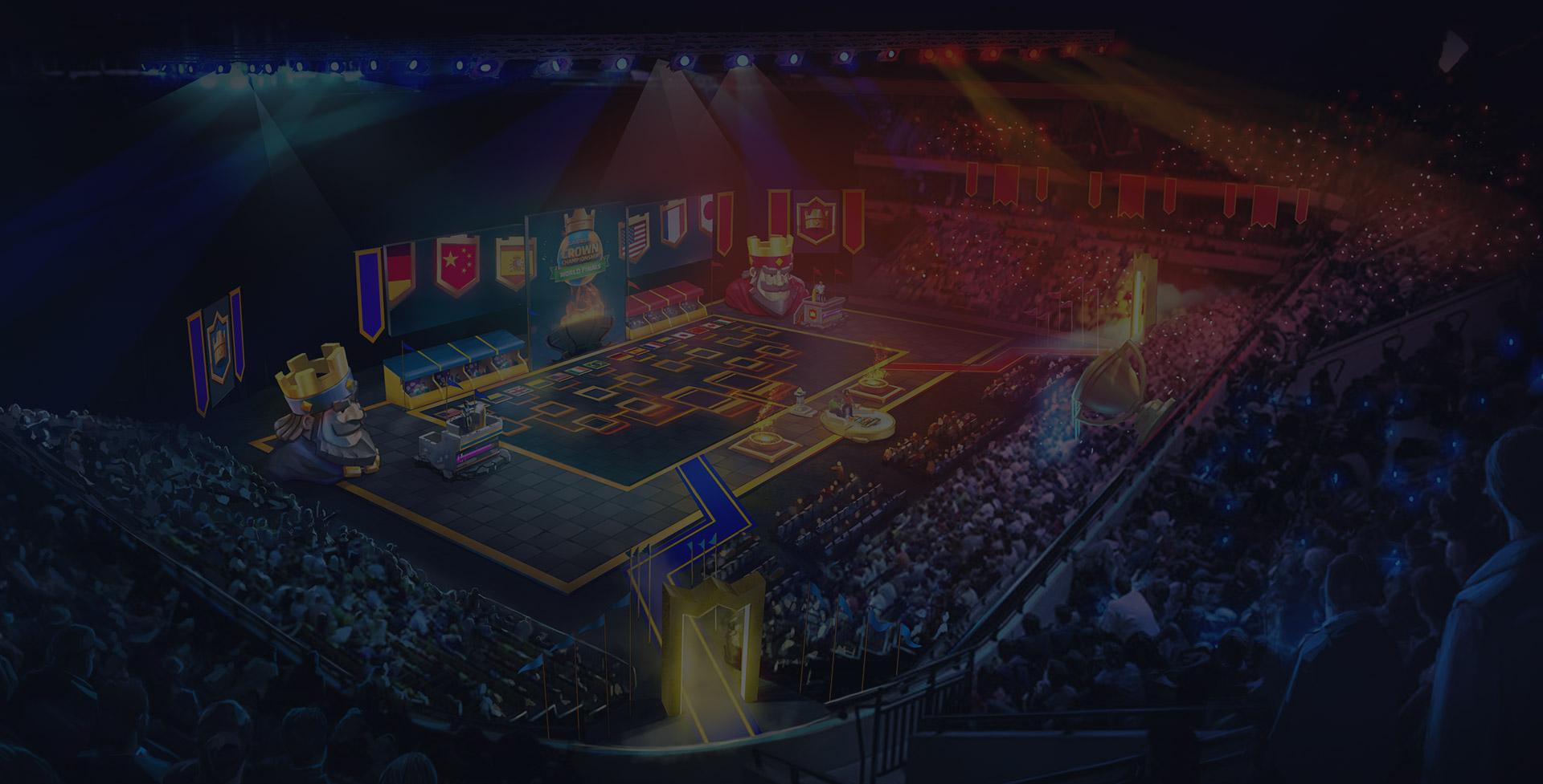 Зал для арены в чемпионате Clash Royale