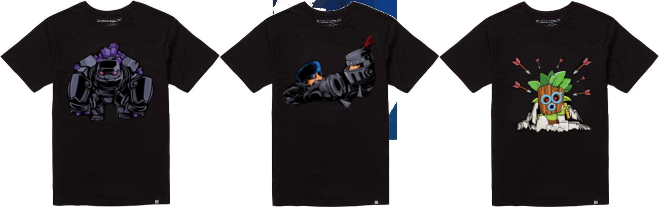 Новые футболки Clash Royale