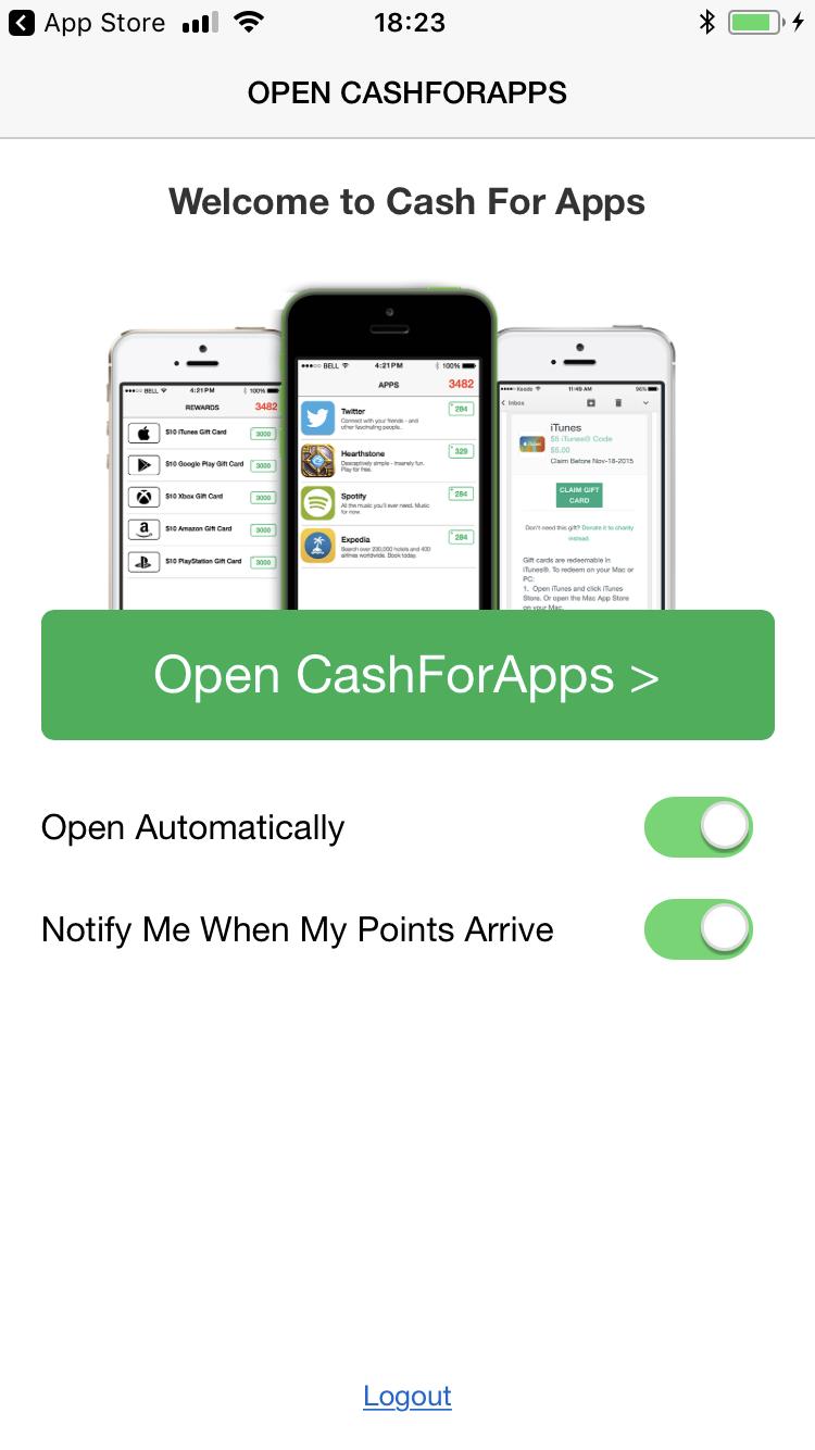 Открыть Cash for Apps