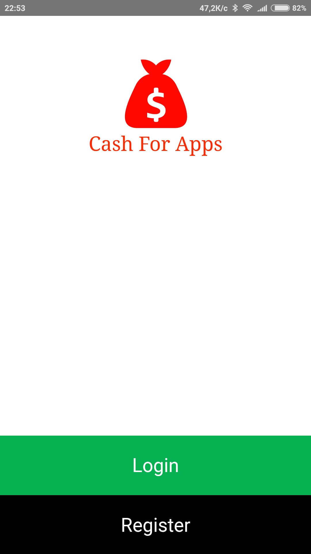 Регистрация Cash for Apps Android