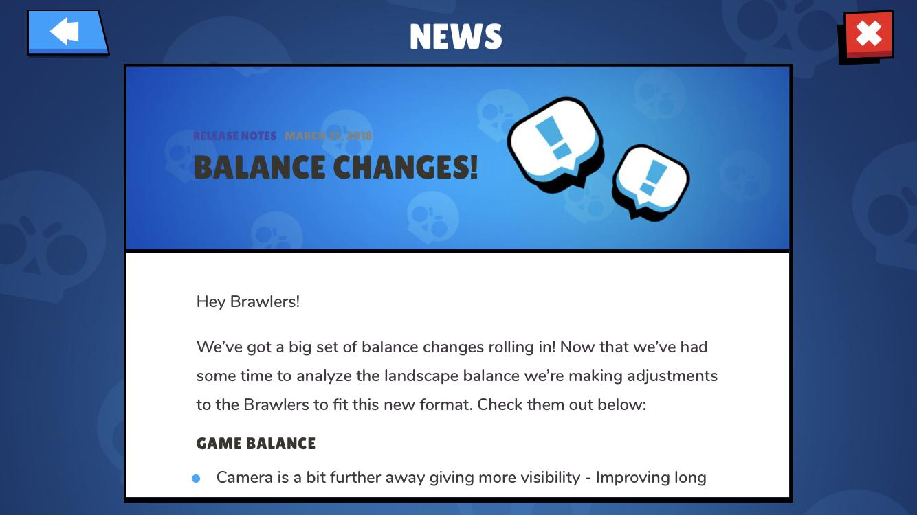 Изменение баланса в Brawl Stars