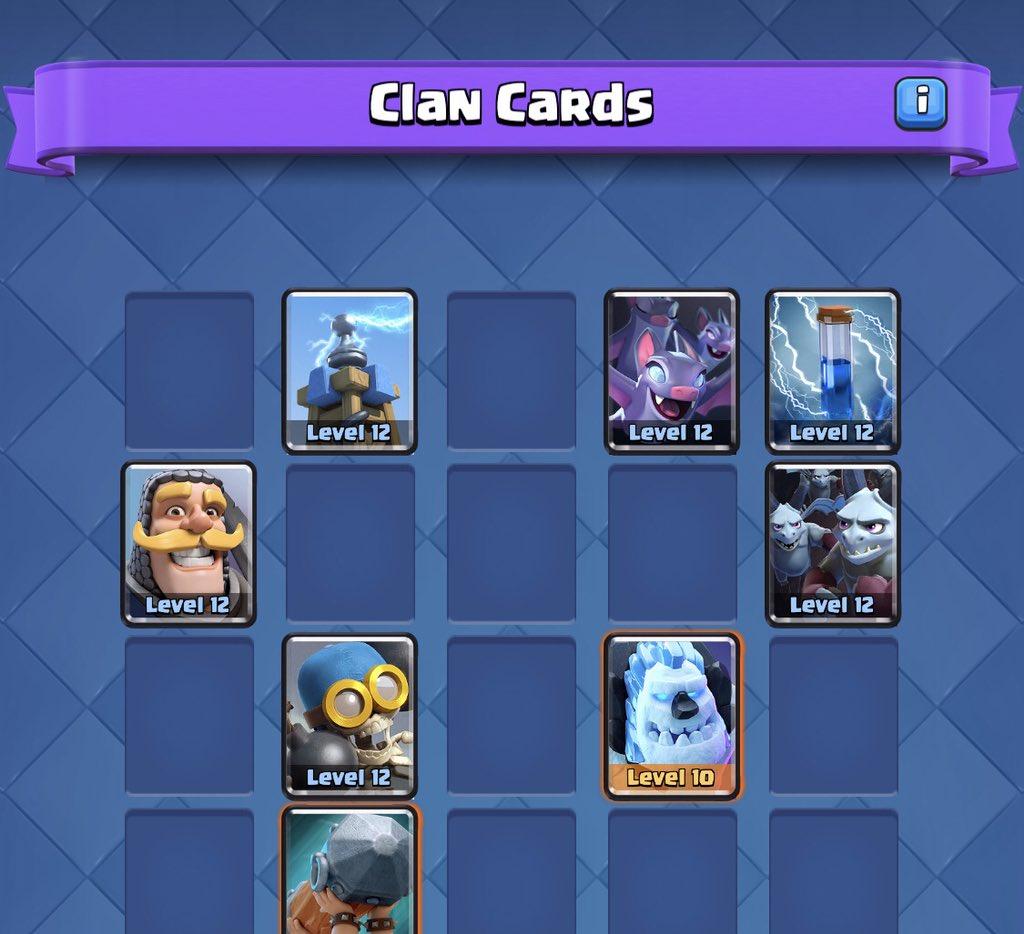 Клановые карты в Clash Royale