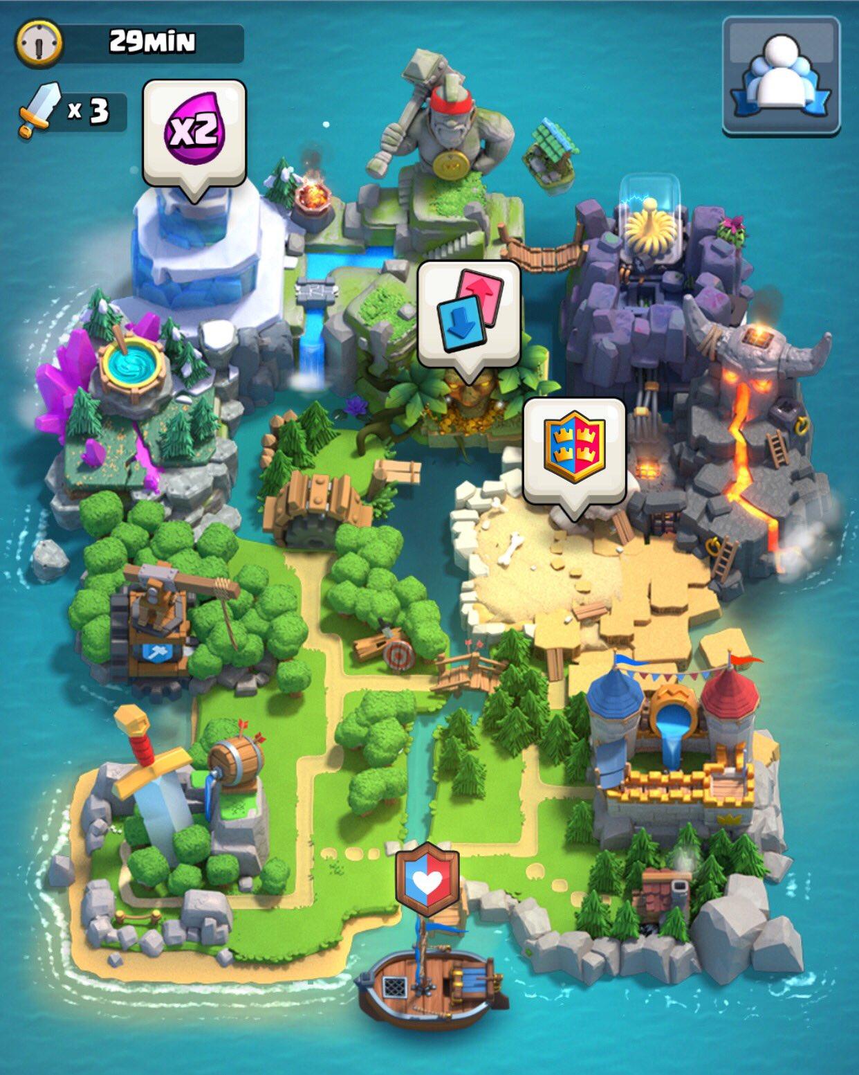 Клановый остров Clash Royale