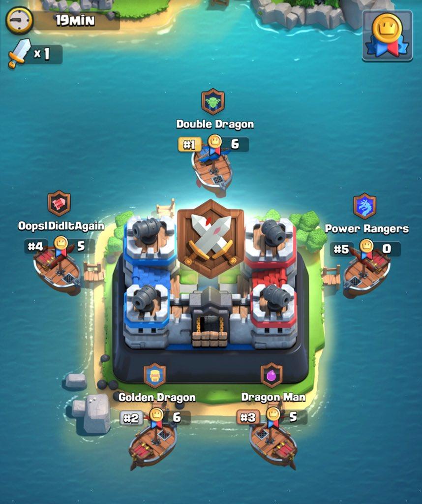 Клановый остров/ арена в Clash Royale