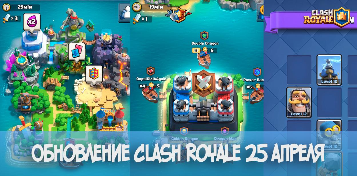 Обновление 25 апреля в Clash Royale