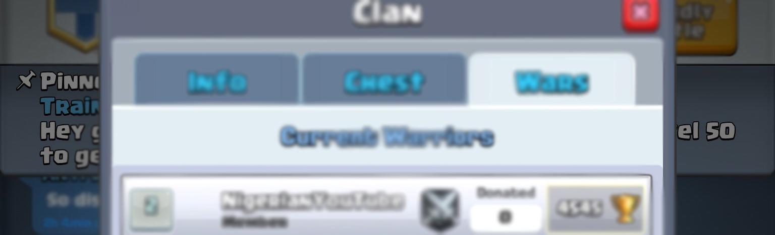 Закрепленное сообщение в Clash Royale