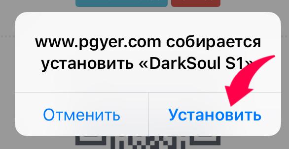 Подтверждение установки сервер Clash of Souls