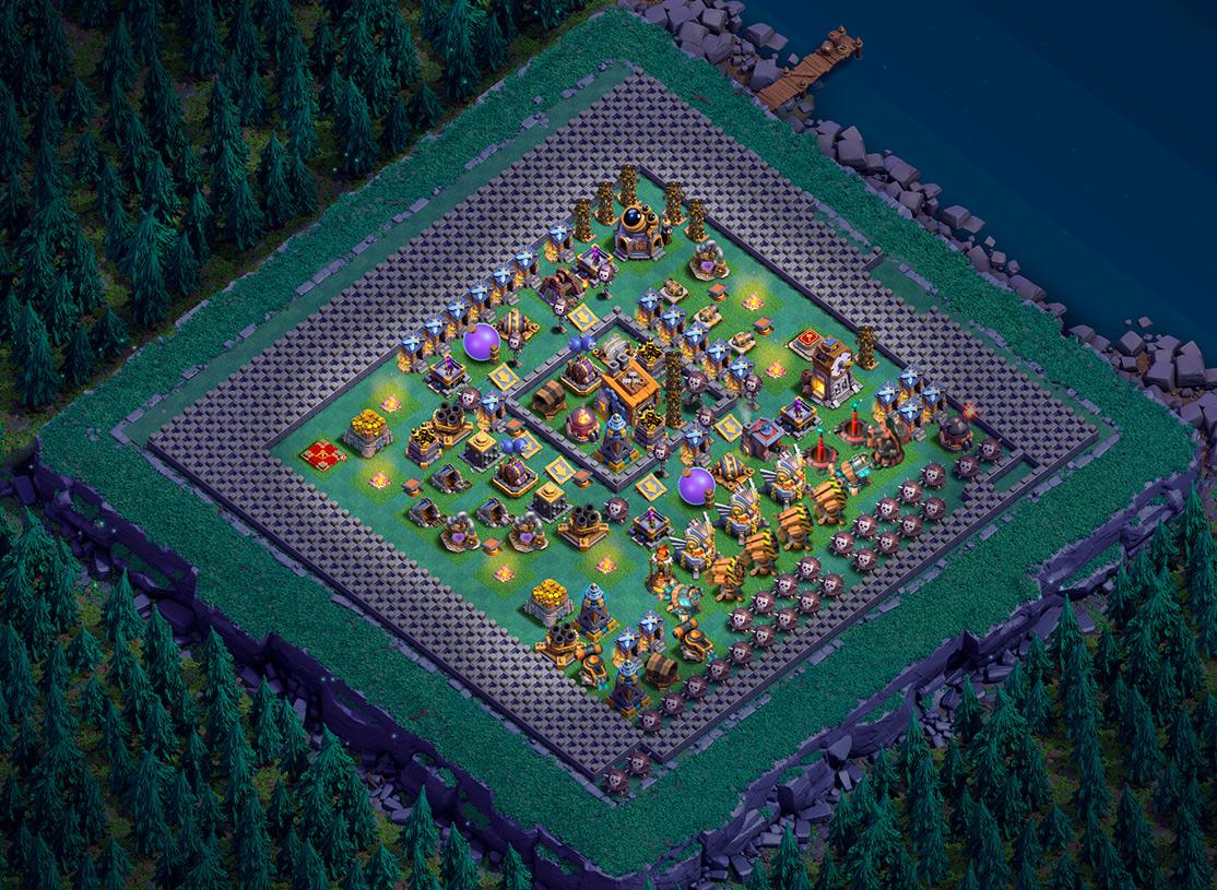 Рабочая деревня строителя на сервере Clash of Souls