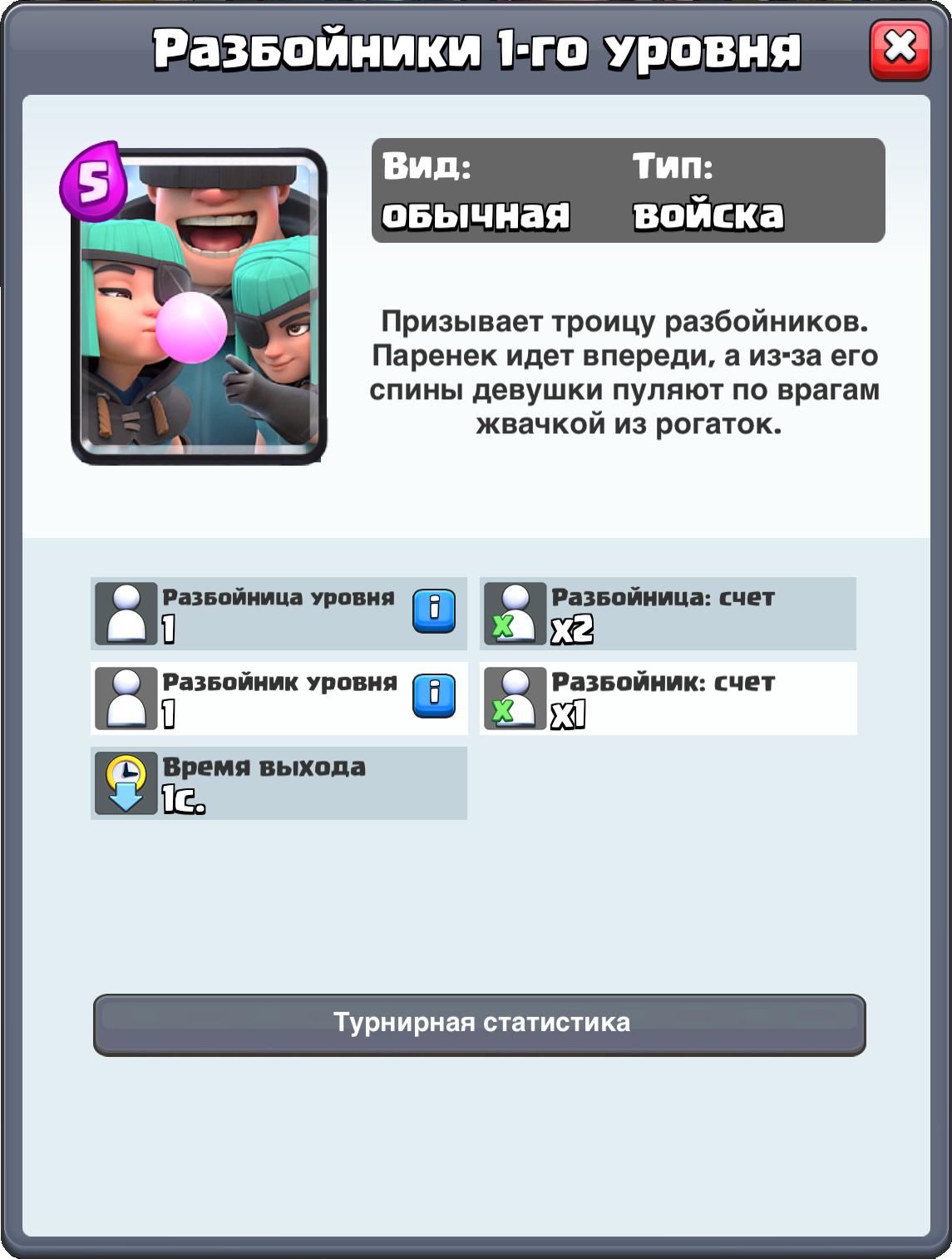 Разбойники - Clash Royale