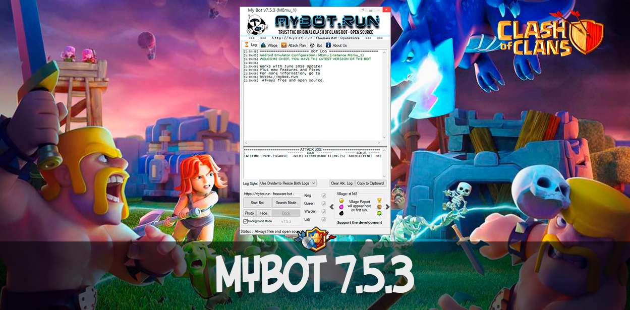 MyBot v.7.5.3 - бот Clash of Clans с поддержкой ТХ 12