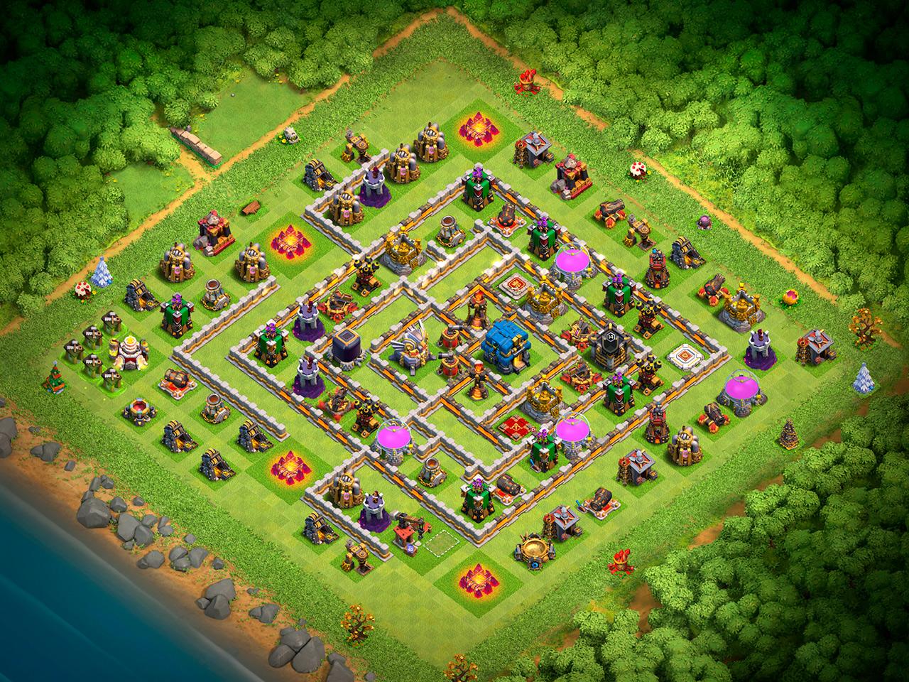Расстановка ТХ 12 - Clash of Clans