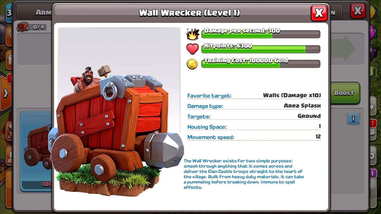 Разрушитель стен/ Wall Wrecker - Clash of Clans