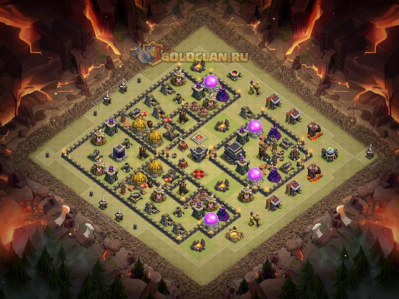 Расстановка базы для ратуши 9 - Clash of Clans