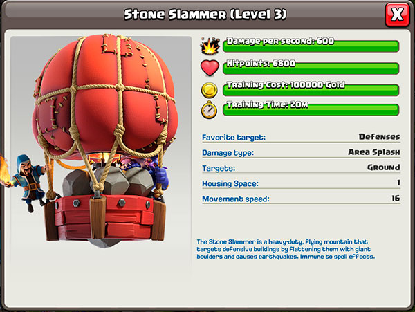 3 уровень - Stone Slammer