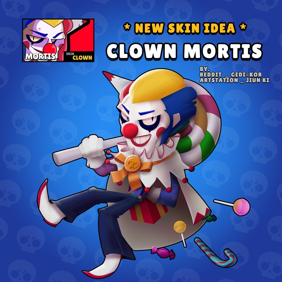 Клоун Мортис в Brawl Stars