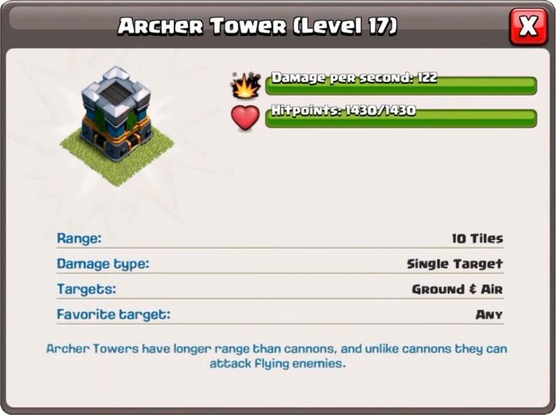 Башня лучниц 17 уровень - Clash of Clans