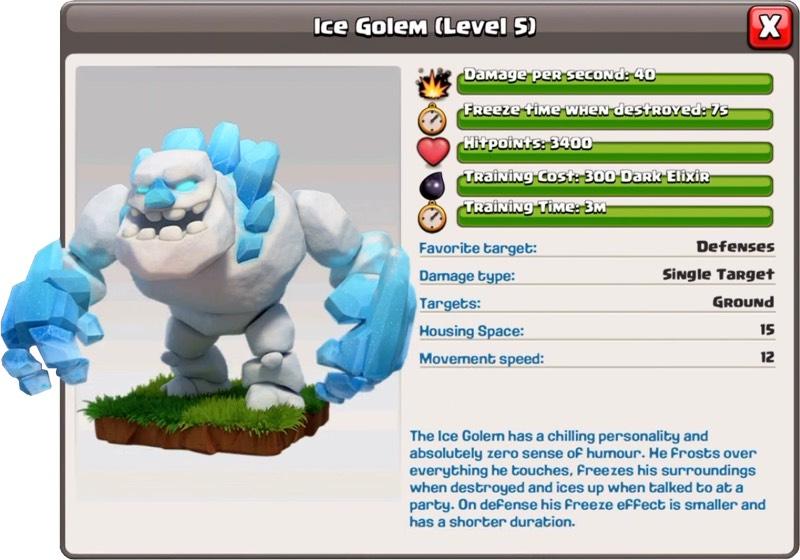 Ледяной голем 5 уровень - Clash of Clans