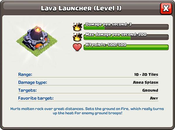 Источник лавы/ Lava Launcher