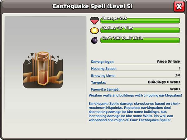 Землетрясение 5 уровня в Clash of Clans