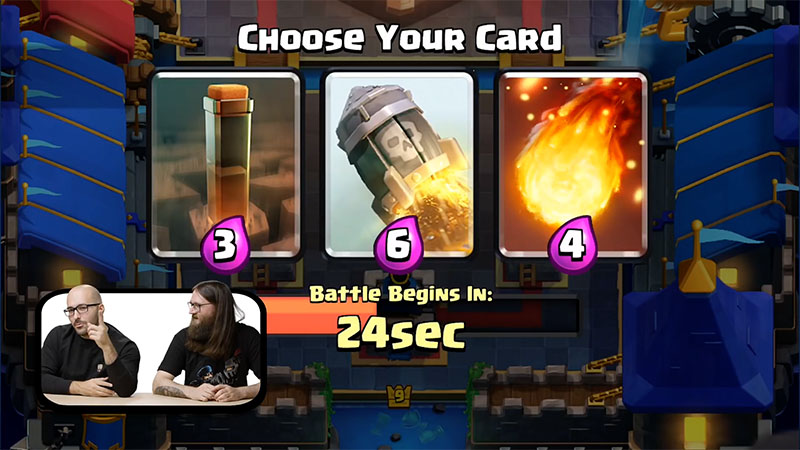 Тройной выбор карт в Clash Royale