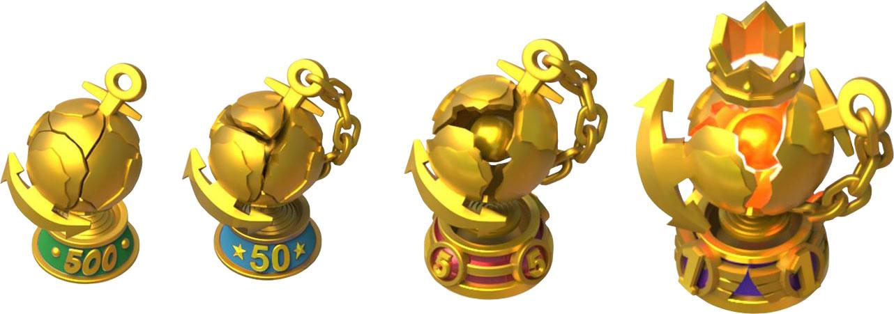 Трофеи за ТОП на боевых кораблях