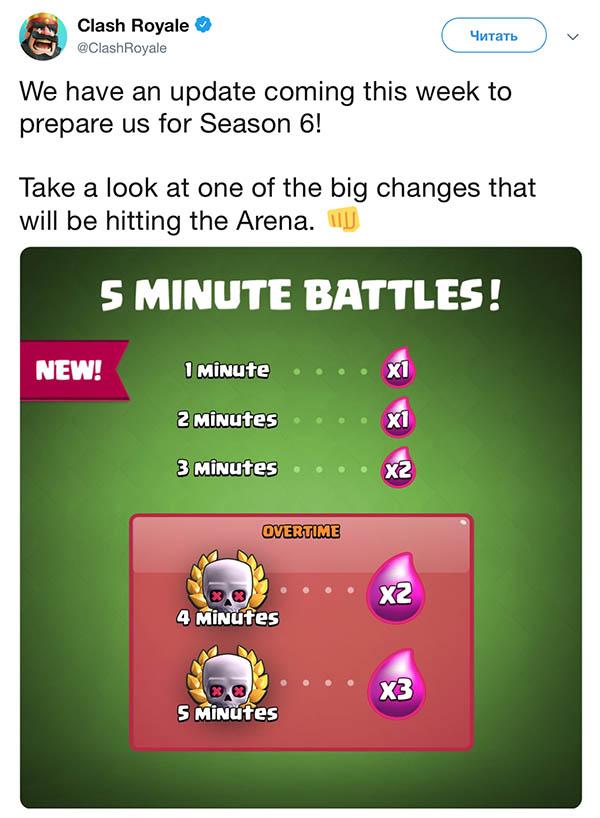 Изменение ускорения и времени в боях Clash Royale