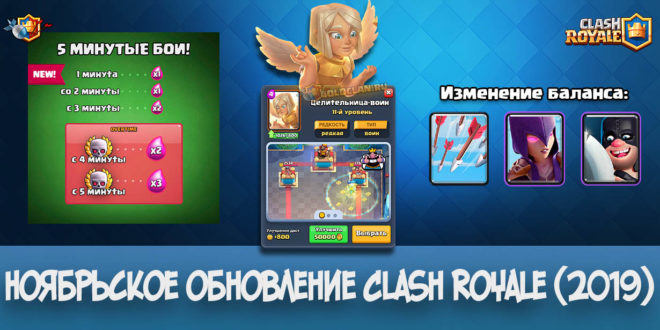 Ноябрьское обновление в Clash Royale 3.2.0 — новая карта, башня и многое другое (2019)