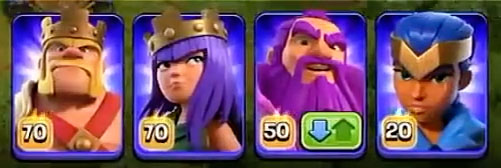 Новые уровни героев в Clash of Clans