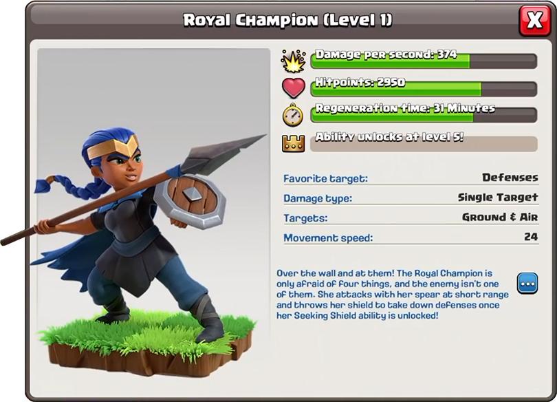Royal Champion/ Королевская Чемпионка - Clash of Clans