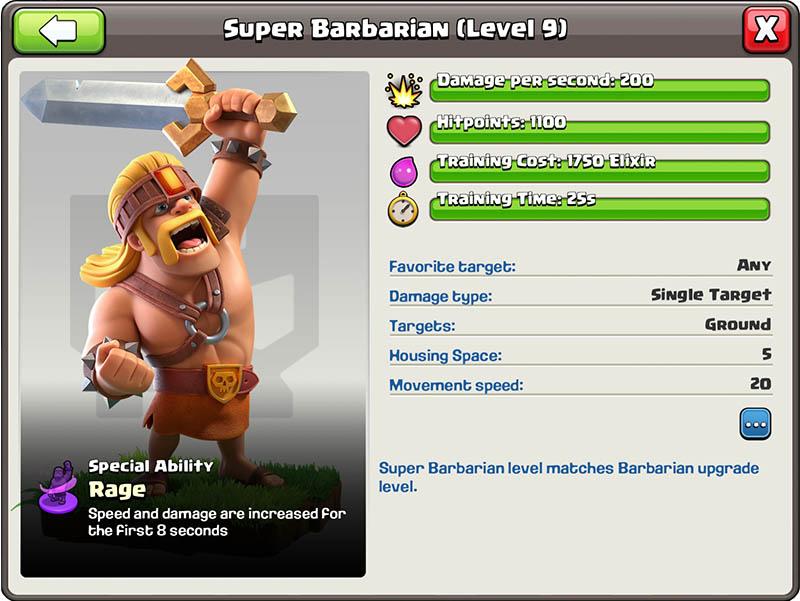 Super Barbarian - Clash of Clans