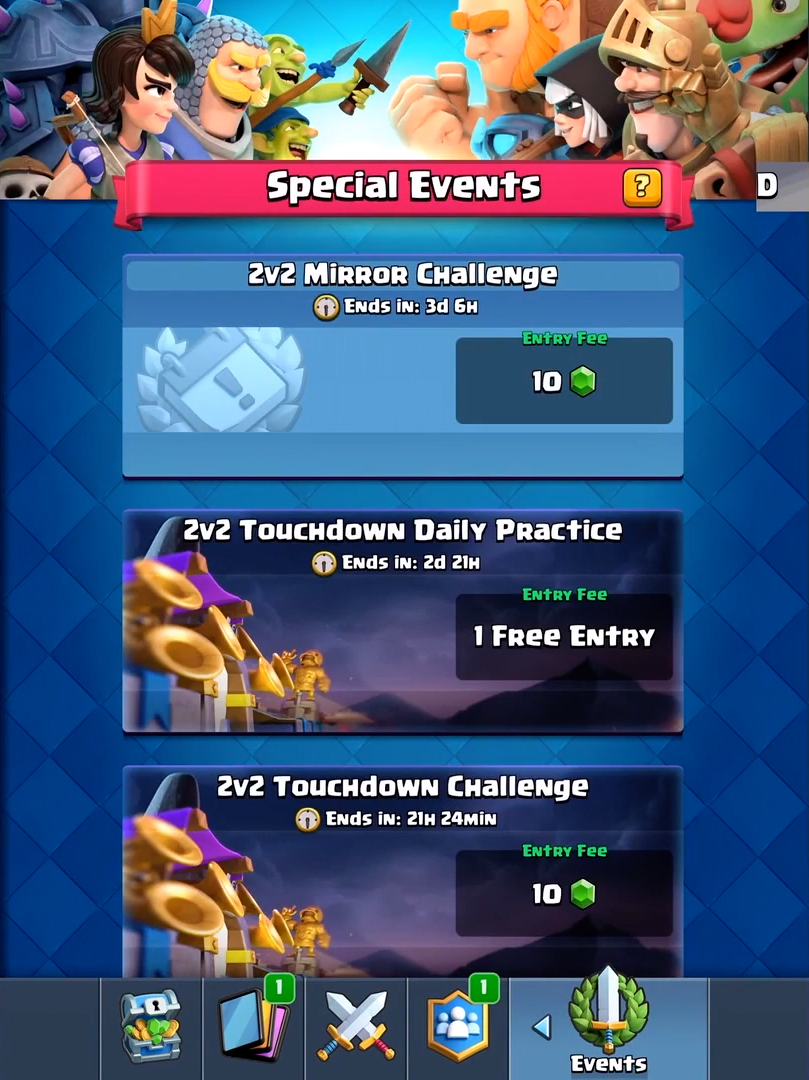 Special Events Clash Royale